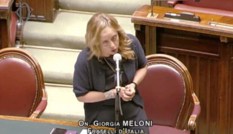 giorgia-meloni-discorso-camera