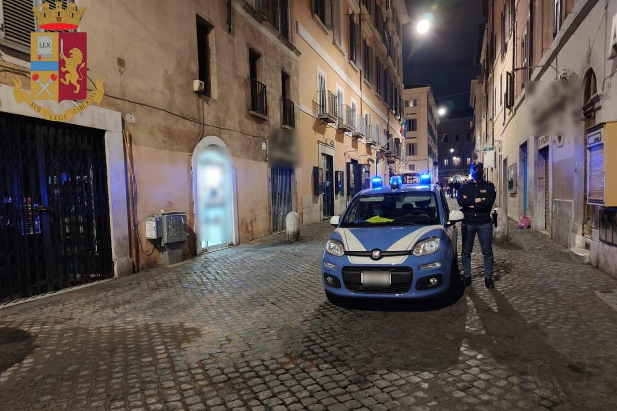 coprifuoco-roma-polizia